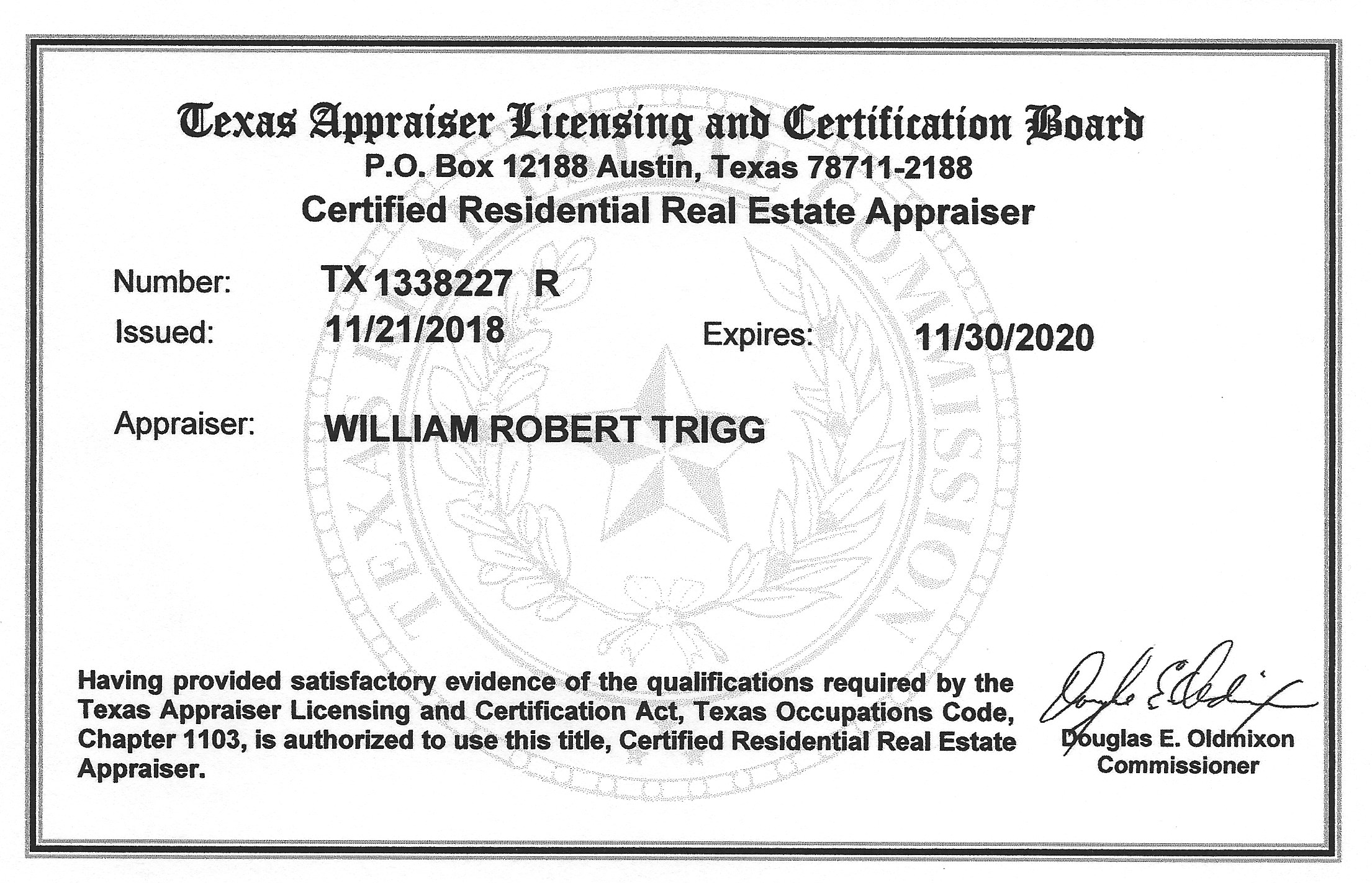 Real Estate Appraiser Licensing William Trigg Appraisal Llc